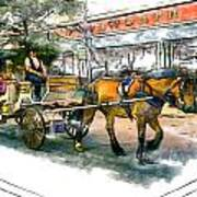 Carriage Ride Art Print