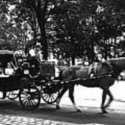 Carriage Ride Nyc Art Print