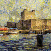 Starry Carrickfergus Castle Art Print