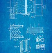 Carrier Air Conditioning Patent Art 1906 Blueprint Art Print