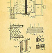 Carrier Air Conditioning Patent Art 1906 Art Print