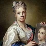 Carriera Rosalba, Self-portrait, 1715 Art Print