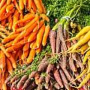 Carrots At The Market Art Print