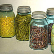 Carrots Vintage Kitchen Glass Jar Canning Art Print