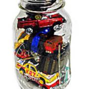 Cars In A Jar Art Print