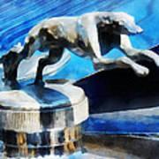 Cars - Lincoln Greyhound Hood Ornament Art Print