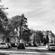 Cars On A Street In Edinburgh Art Print