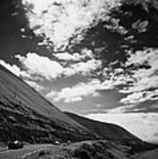 cars on the road around the Iveragh Peninsula Ring of Kerry Art Print