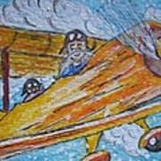 Cartoon Airplane Art Print