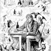 Cartoon Alcoholism, 1874 Art Print