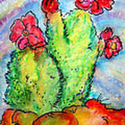 Cartoon Cactus Art Print