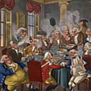 Cartoon: The Smoking Club Art Print