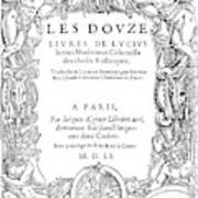 Cartouche, 1551 Art Print