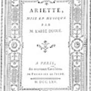 Cartouche, 1765 Art Print