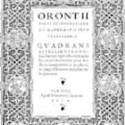 Cartouches, 1534 Art Print