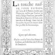 Cartouches, 1537 Art Print