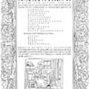Cartouches, C1530 Art Print