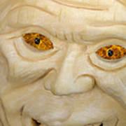 Carved Pumpkin Face Art Print