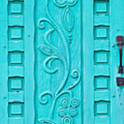 Carved Turquoise Door Art Print