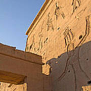 Carved Wall Of The Temple  Philae  Art Print