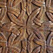 Carved Wooden Door In The Tsminda Sameba Cathedral Tbilisi Art Print