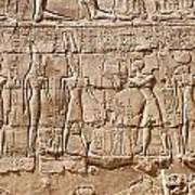 Carvings At The Temple Of Karnak Art Print