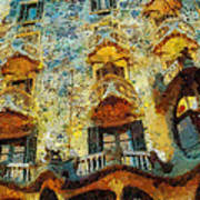 Casa Battlo Art Print by Mo T