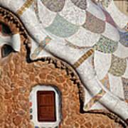 Casa Del Guarda Details In Park Guell Art Print