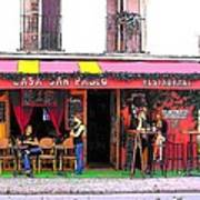 Casa San Pablo Restaurant Art Print