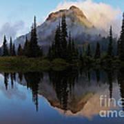 Cascade Mirror Art Print by Mike  Dawson