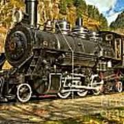 Cascade Mountain Train Art Print