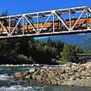 Cascades Rail Bridge Art Print