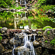 Cascading Waterfall And Pond Art Print by Elena Elisseeva