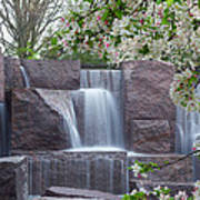 Cascading Waters At The Roosevelt Memorial Art Print