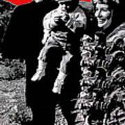 Cash Family In Red Old Tucson Arizona 1971-2008 Art Print