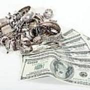 Cash For Sterling Silver Scrap Art Print