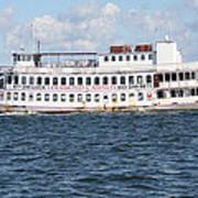 Casino Boat Coming Into Port Art Print