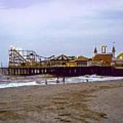 Casino Pier Boardwalk - Seaside Heights Nj Art Print by Glenn Feron