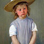 Cassatt's Child In A Straw Hat Art Print