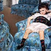 Cassatt's Little Girl In A Blue Armchair Art Print