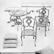 Cast Aluminum Furniture By Molla Art Print