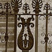 Cast Iron Fence Art Print