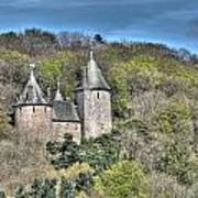 Castell Coch Cardiff Painterly Art Print
