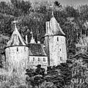 Castell Coch Mono Art Print
