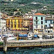 Castelleto Harbor.italy Art Print