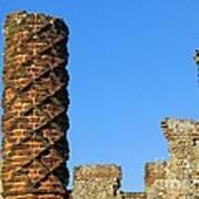 Castle Brickwork Art Print
