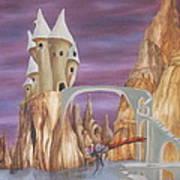 Castle Dragonfly Art Print