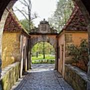 Castle Gate Rothenburg Ob Der Tauber Art Print