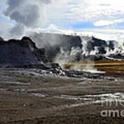 Castle Geyser In Yellowstone National Park Art Print