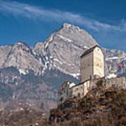 Castle On A Hill In Switzerland Art Print